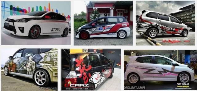 Gambar Modifikasi Cutting Sticker Mobil