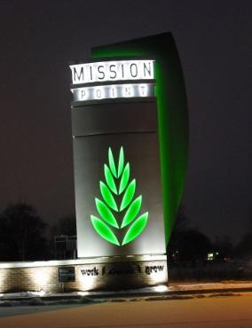 Gambar Harga Pylon Sign Stainless Steel LED