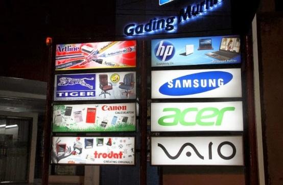 Gambar Macam Jenis Neon Box di Indonesia